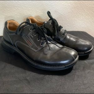 ecco Black Leather Men's Shoes